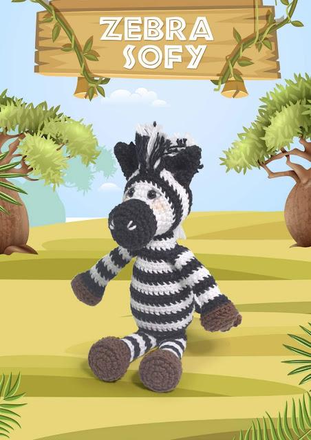 Crochet Zebra like a Chip the Zebra. Blue Nose Friends. Crochet ... | 640x452