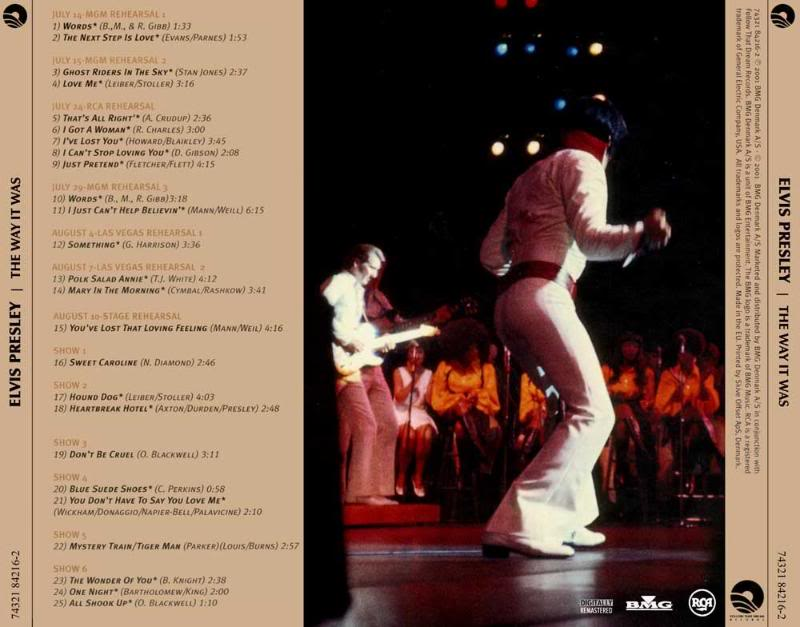 ELVIS FTD CD`s: THE WAY IT WAS FTD