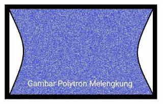 Gambar lebar dan melengkung pada tv polytron