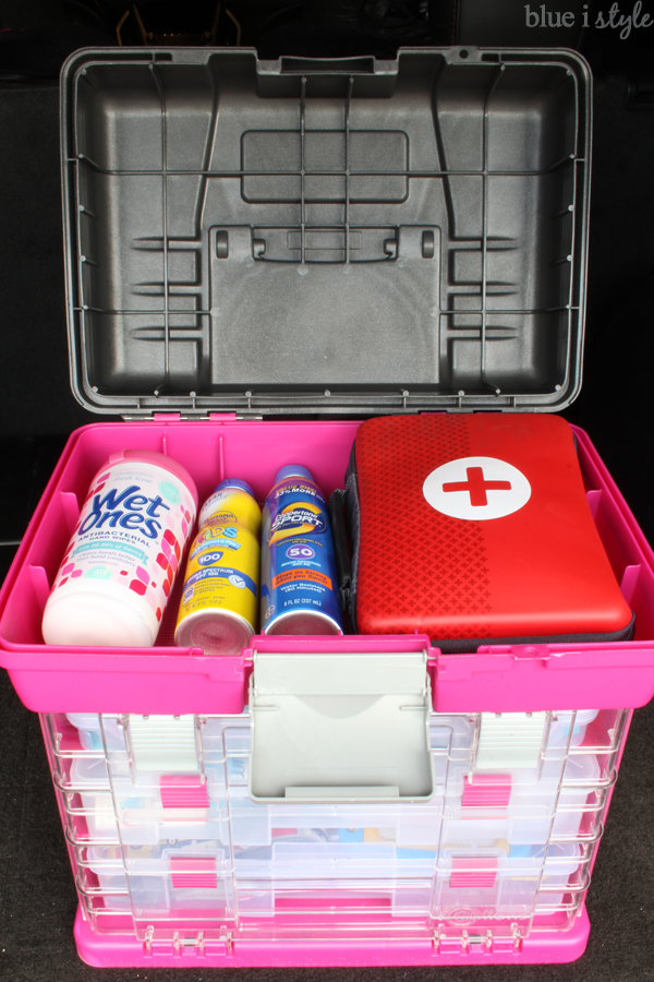 Organized Car Kit First Aid Sunscreen