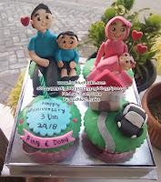 Cupcake Ulang Tahun Tema Satu Keluarga