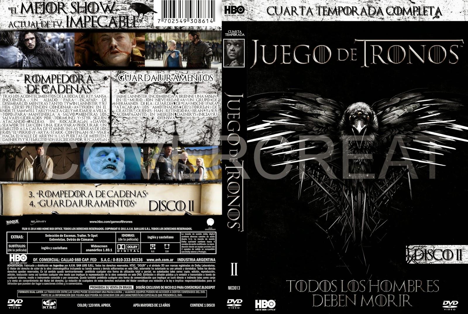 COVERCARATULAS DE DVD - CD COVERCREATORS: JUEGO DE TRONOS ...