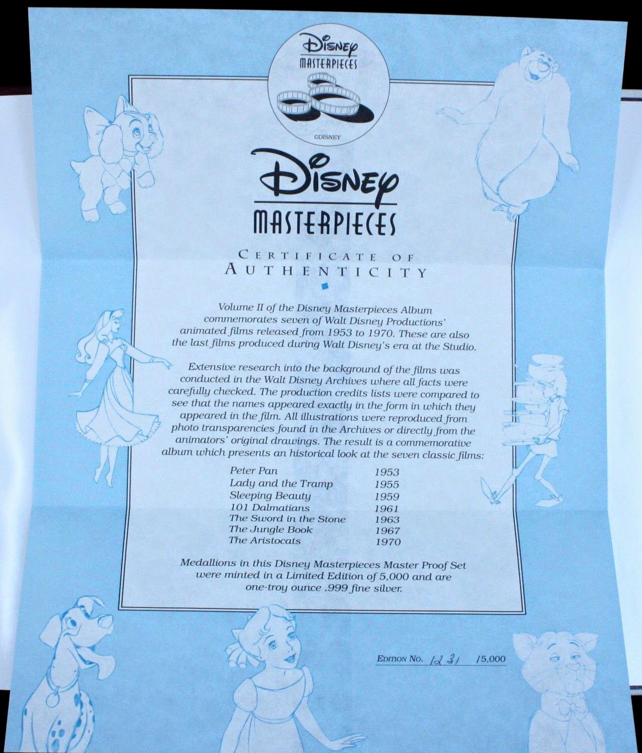 Filmic Light Snow White Archive 1992 Franklin Mint