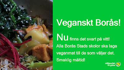 I Borås kan du få veganskt i förskola och skola tack vare miljöpartiet