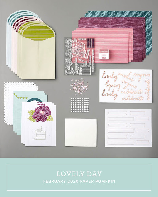 February 2020 Stampin' Up! Paper Pumpkin all-inclusive monthly stamp kit | Lovely Day | Nicole Steele The Joyful Stamper