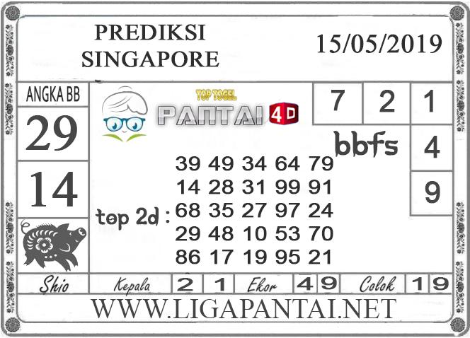 """Prediksi Togel """"SINGAPORE"""" PANTAI4D 15 MEI 2019"""