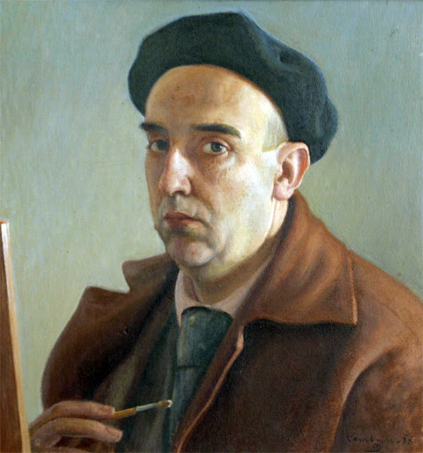 Francisco Pérez Dolz, Self Portrait, Portraits of Painters, Fine arts, portraits of painters blog, Painter Francisco Pérez Dolz