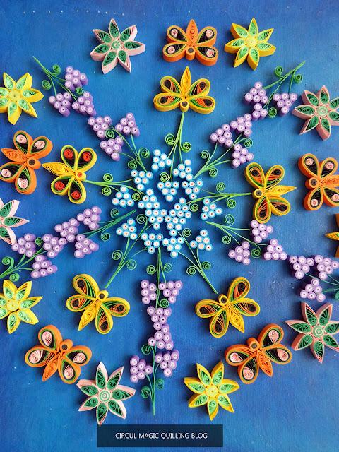 Circul Magic Quilling: Mandala Simfonie de primavara cu Fluturi si Flori