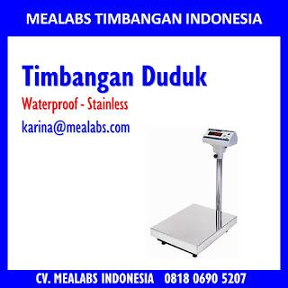 Jual timbangan duduk digital stainless waterproof tahan air mealabs timbangan indonesia