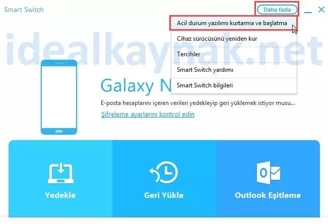 Samsung Smart Switch Kullanımı