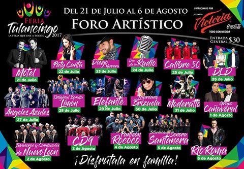 artistas feria tulancingo 2017