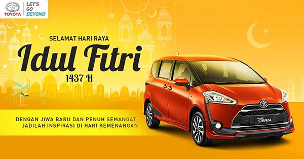 Toyota Mengucapkan Selamat Hari Raya Idul Fitri 1437 H