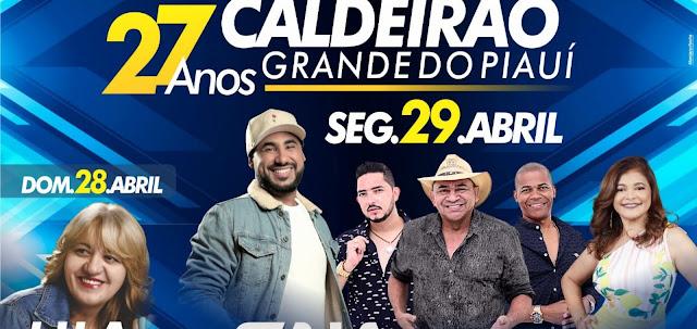 PREFEITO VIANNEY ANUNCIA ATRAÇÕES ARTÍSTICAS DA FESTA DO ANIVERSÁRIO DE CALDEIRÃO GRANDE