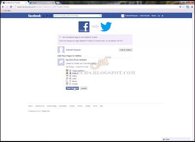 Auto Redirecting Facebook Posts to Twitter - Step 8