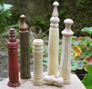 wooden needle cases Sean Hellman