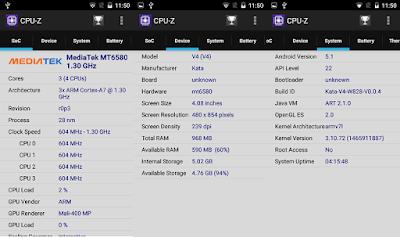 Kata V4 CPU-Z Info