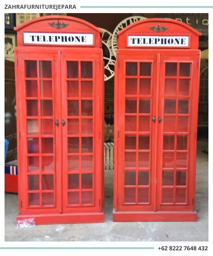 LEMARI HIAS TELEPHONE VINTAGE / BOX TELEPHONE