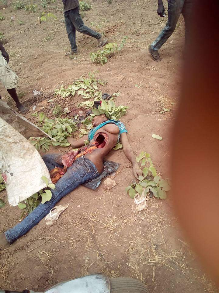 Graphic Photos: Suspected Ritualists Remove Heart Of Young Girl After Killing Her