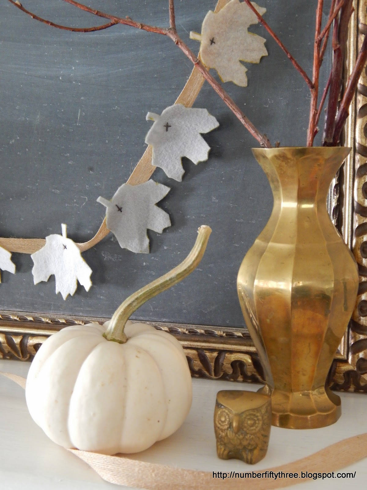 The garland makes a cute  addition to fall decor