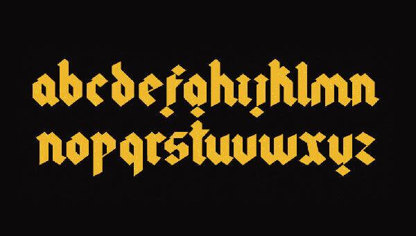 Font Modern Blackletter Grafis - Gothic Modern Typeface