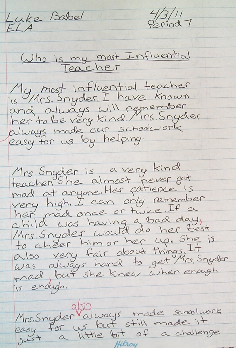 essay influential teacher 91 121 113 106 essay influential teacher