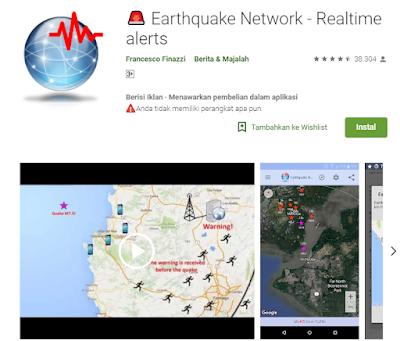 Aplikasi Pendeteksi Gempa Earthquake Network