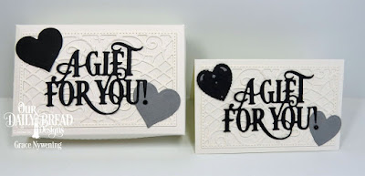 Our Daily Bread Designs Custom Dies: The Gift Giving Box,  A Gift For You, Layering Hearts, Ornate Hearts, Gift Card Holder
