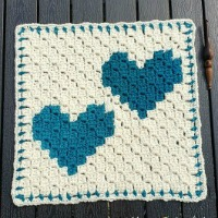 Two Hearts that Beat as One C2C Square
