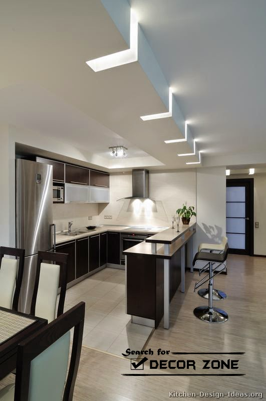 3d Fall Ceiling Wallpaper Modern Kitchen Lighting Ideas And Solutions
