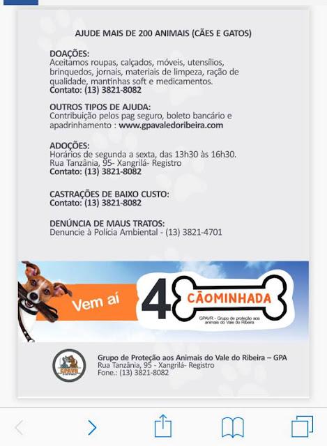 IV Cãominhada do GPA no domingo 12/08  contará com a campanha Magnus em dobro