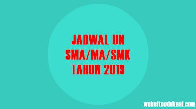 Jadwal UNBK, UNKP, UN Tahun 2019