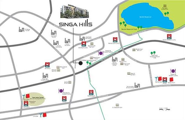 SingaHills @ Jalan Singa Location