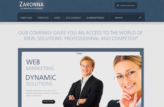 Free Zaronna - Clean Joomla Template