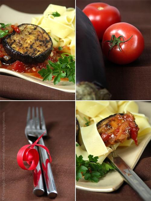 zapiekanka z bakłażana z pomidorami