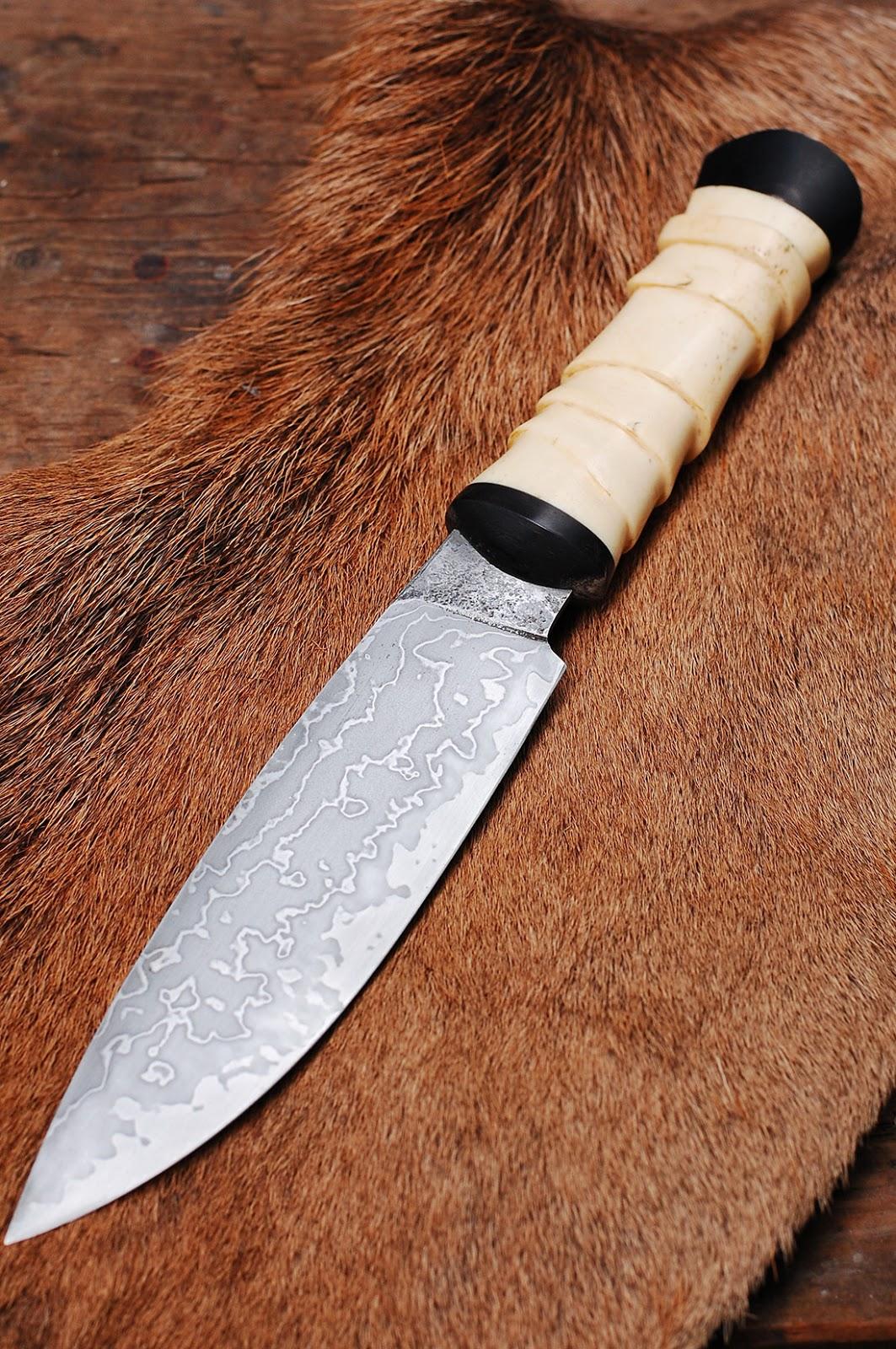 Damascus Bone Handle Knife
