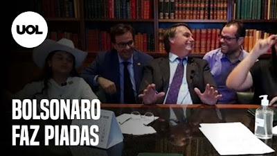 Jair Bolsonaro faz piadas - auxílio emergencial irá acabar - Novas regras do Oscar