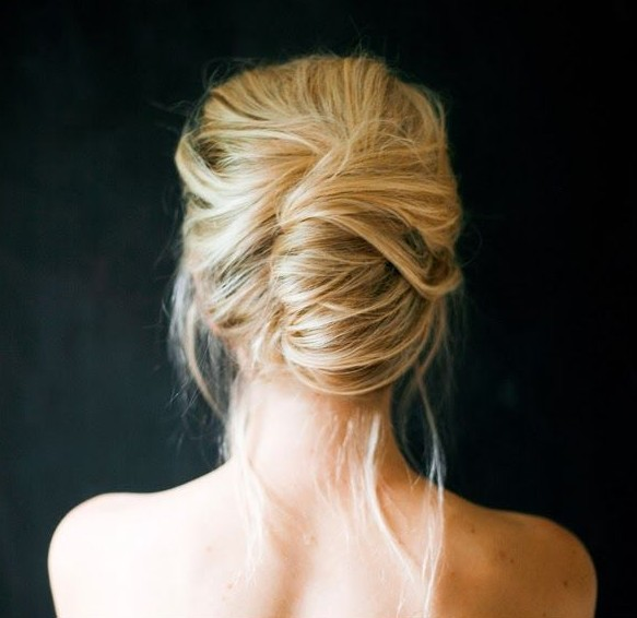 72 stunning wedding updo hairstyles hairstylo casual messy updo for wedding junglespirit Choice Image