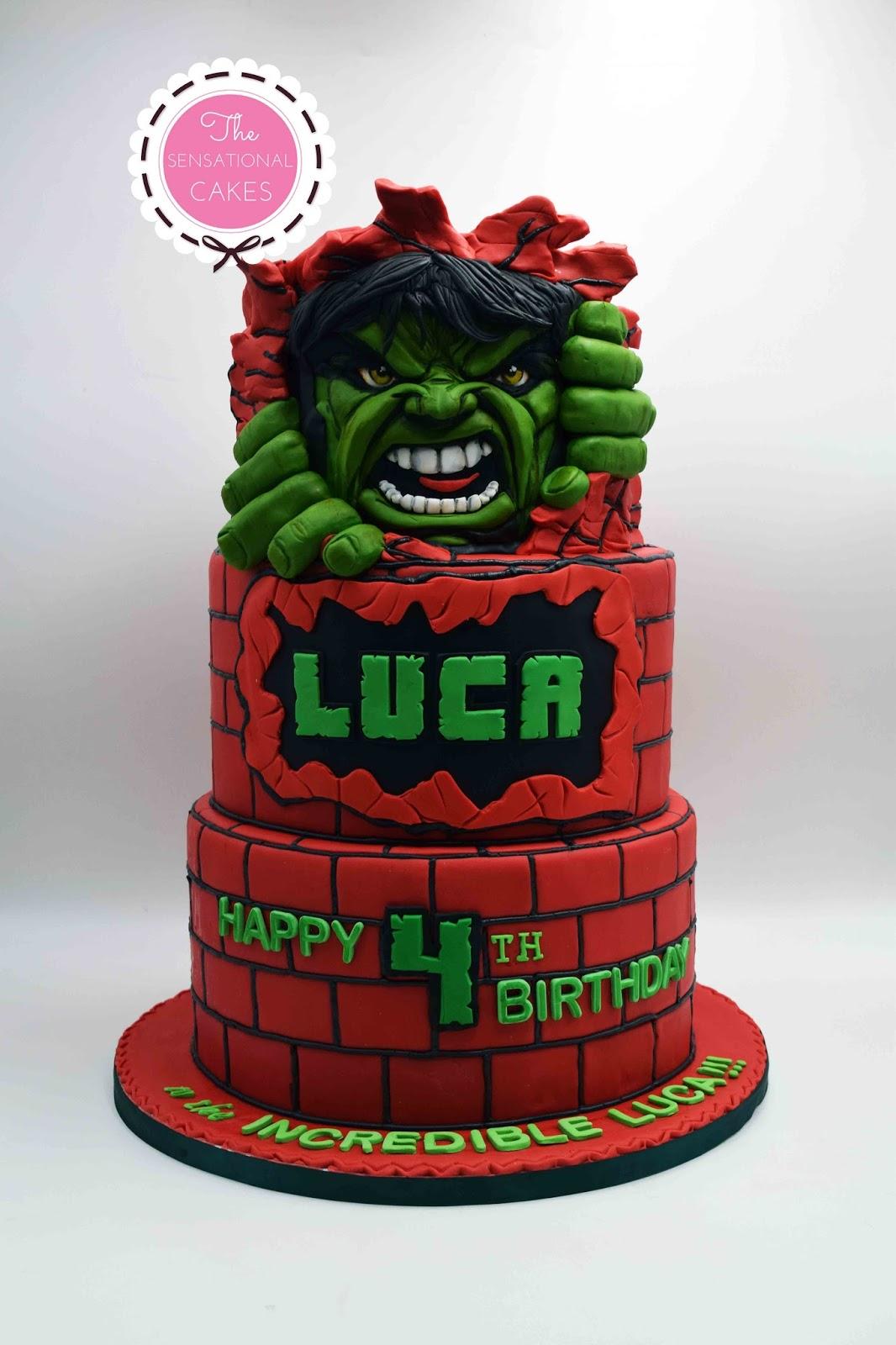 Stupendous The Sensational Cakes Incredible Hulk Concept Children Birthday Personalised Birthday Cards Veneteletsinfo