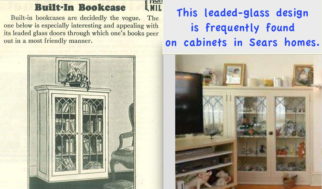 Sears Leaded Glass Front Design Book Cases In Elmhurst 827 Green Lane