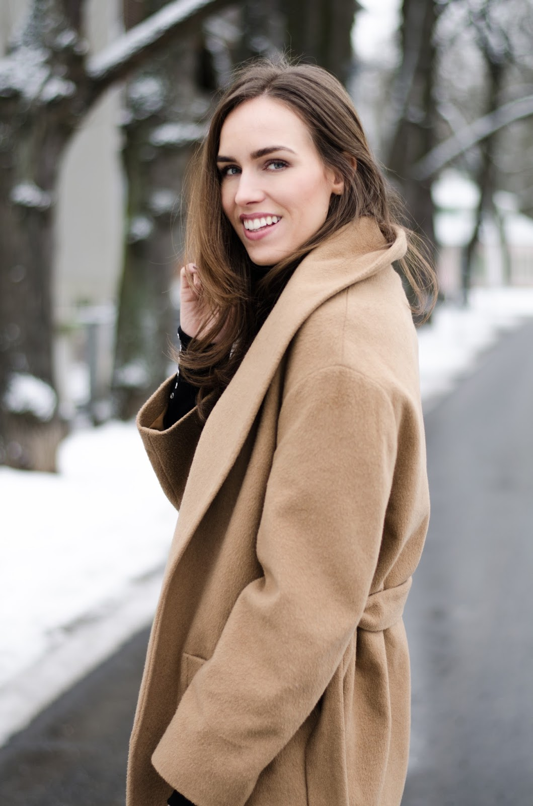 kristjaana mere camel coat outfit