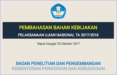 Jadwal Penyelenggaraan UN 2018 SMK, SMA/MA, SMP/MTS, Paket C, Paket B - Perencanaan Balitbang Kemendikbud Tahun 2017