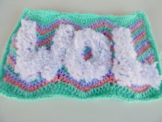Crochet afghan wool square