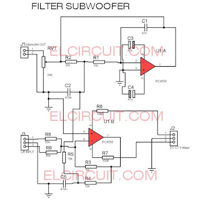 filter subwoofer circuit diagram