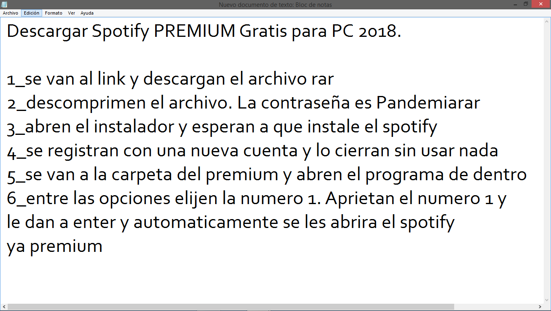 descargar spotify premium gratis para pc windows 10