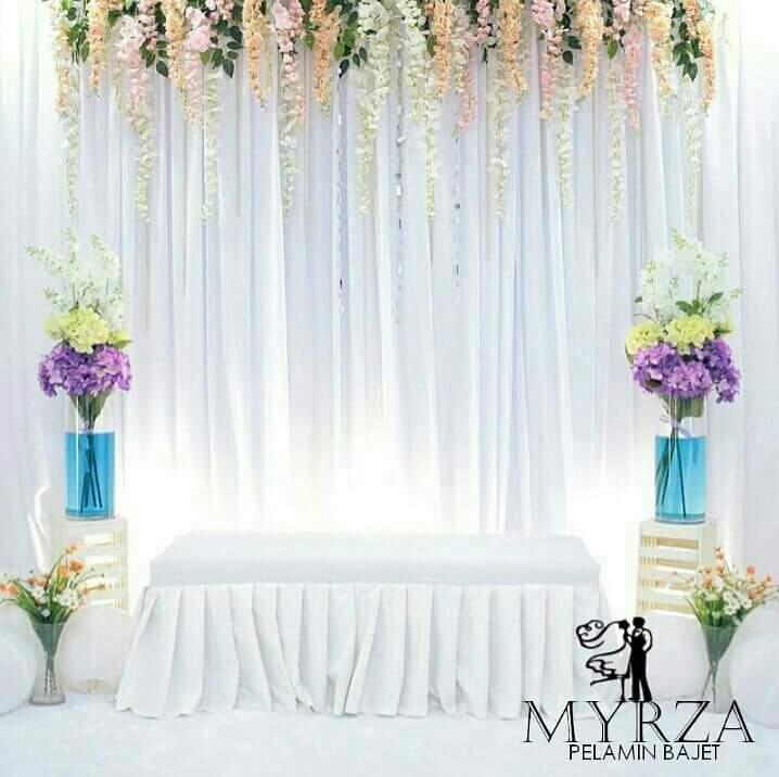 Pelamin Tunang Dan Nikah Bajet Cantik Dan Simple Dari Myrza Decoration Belog Zai Zamree