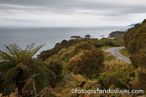 Carretera costa oeste Nueva Zelanda