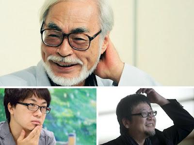 Miyazaki, Shinkai e Hosoda