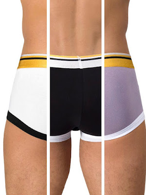 Rounderbum 1980 Mini Trunk 3-Pack Underwear Multicolor Back Detail Gayrado Online Shop