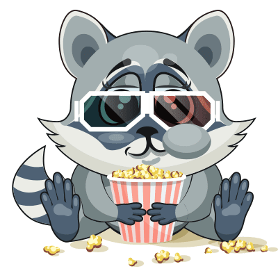 Popcorn Raccoon