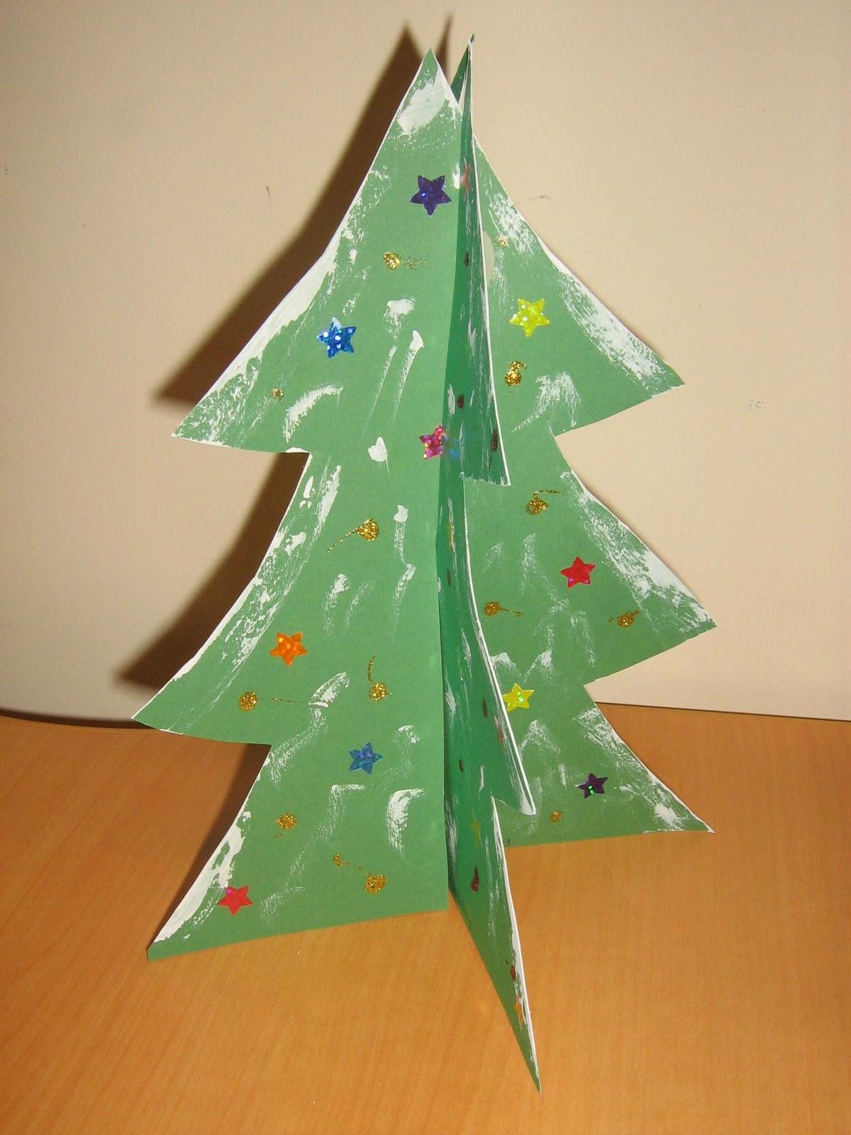 Paper Christmas Tree.Mama Pea Pod
